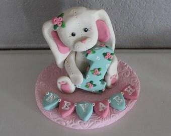 Custom Bunny Rabbit Cake Topper for Birthday or Baby Shower