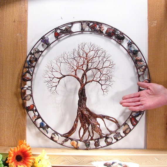 metal tree wall art wire tree of life sculpture by. Black Bedroom Furniture Sets. Home Design Ideas