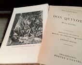 Don Quixote Vintage Book Alta Edition Porter Coates Rare Scarce Antique Circa 1880 Decorative Collectible Embossed Embellished Literature