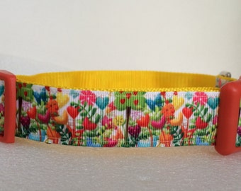 Spring Flowers in Bloom Dog Collar by Collars for Canines
