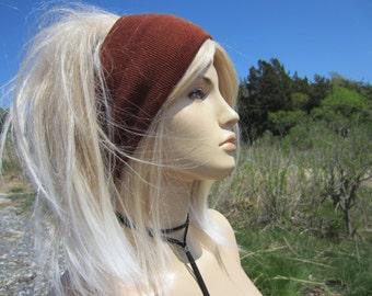 Big Knit Headband Wide Hair band Stretch Head Warmer Brown Tube Hat Ear Warmer Hair Accessories  A1849