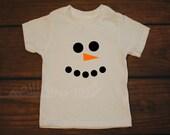 Snowman Shirt Snow Man Shirt - Winter Christmas T Shirt -- YOUTH sizes