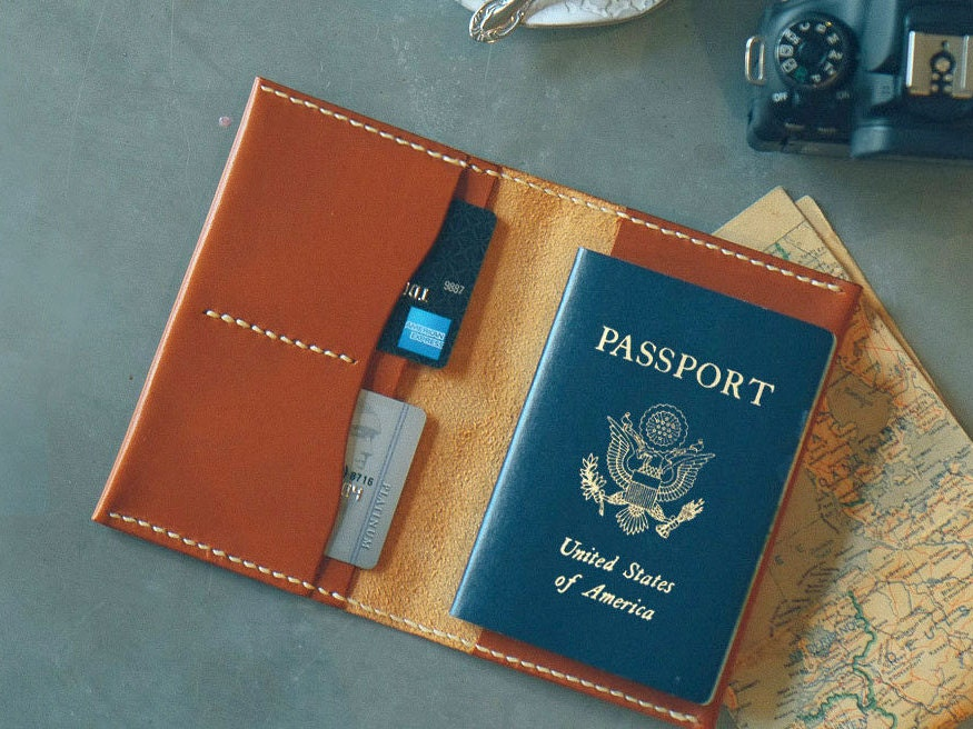 leather passport cover personalized custom leather passport