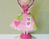 SweetHeart Robin Miniature Wooden Clothespin Doll