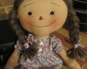 Handmade Simple Small Raggedy Ann doll