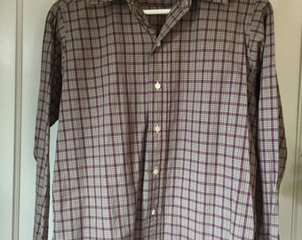 Vintage Hathaway for Her 100% Cotton Plaid Blouse