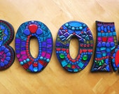 """7"""" Tall - LETTERS/INITIALS/NAME - Custom Mixed Media Mosaic Creations -'Wild & Funky' Style Examples - Order Your 7"""" Size from this Listing"""