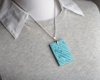 Ceramic Jewelry Pendant Necklace by Symmetrical Pottery