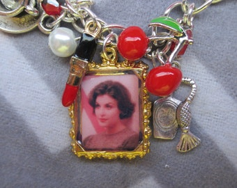 Audrey Horne Custom Charm Bracelet, plus you chose 12 additional Twin Peaks inspired charms.