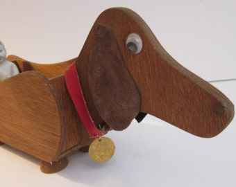 Dachshund Cracker Caddy - Handmade Wood Holder
