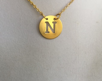 Initial N Gold Necklace