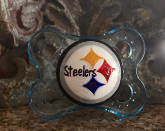Pittsburgh Steelers Custom Hand Painted Pacifier by PiquantDesigns