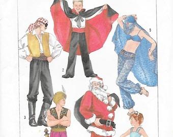 Simplicty 7651 Adult Costume Sewing Pattern Dracula Pirate Genie Santa Claus Arabian Knight BallerinaChest Bust 36 38