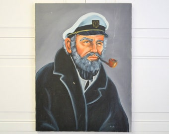 1970s Captain Painting
