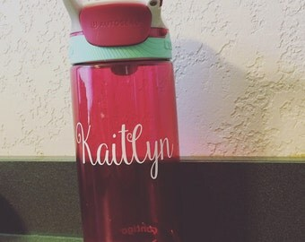 Personalized CONTIGO Water Bottle - any phrase - Monogram, Initials, Name, Custom Text