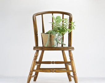Farmhouse Chair, Rustic Dining Chair, Antique Spindle Chair, Primitive Chair Bentwood Back Chair, Dining Chair, Old Chair
