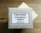 Patchouli Addict Soap - Patchouli, Rosemary and Clary Sage Oils Scented, Cold Process Soap for Face & Body, 100% Natural