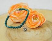 Suede Braided Bracelet w/ Buddha Charm