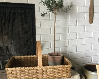 Market Basket, Farmhouse Decor, Cottage chic Decor, Country Rustic, Display Basket, Rectangular Table Top Basket, Fireplace Basket, Storage