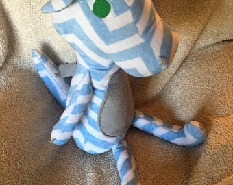 Light blue Chevron Small Dindle Dragon