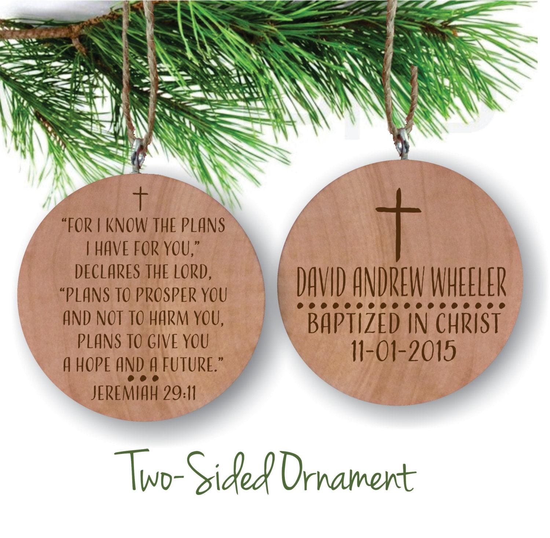 Baptism Ornaments Christening Christmas Ornaments: Baptism Ornament Personalized Christmas Ornament Christening