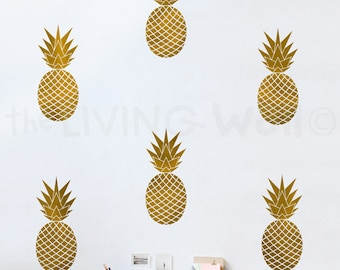 Pineapple Wall Decal Etsy - Vinyl wall decals australia