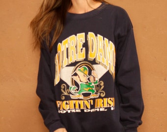 90s University of NOTRE DAME football pullover SWEATSHIRT
