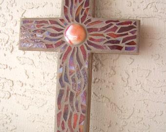 Sale Decorative Cross Wall Cross Hanging Cross Mosaic Cross Handmade Cross for Wall Red Cross Christmas Gift Religious Gift
