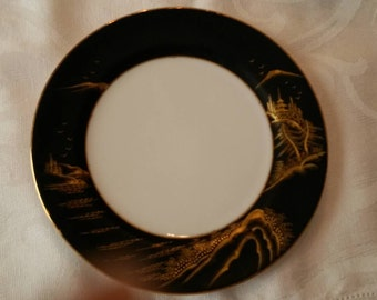 "Two (7 7/16""D) Japanese  Kutani Plates; 19th Century, Hand Painted  circa late 1800's   #855 & 856"