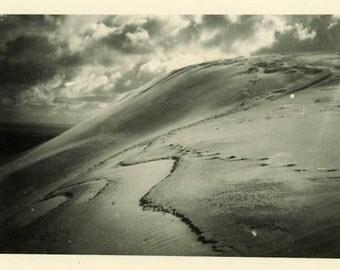 "Vintage Photo ""Explore Other Planets"" Sand Dune Odd Snapshot Antique Photo Old Black & White Photograph Found Paper Ephemera Vernacular - 73"