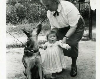 "Vintage Photo ""Puppy Surprise"" Snapshot Photo Old Antique Photo Black & White Photograph Found Photo Paper Ephemera Vernacular - 26"