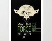 StarWars May The Force Be With You poster Art print