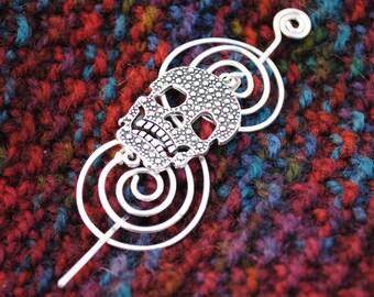 Skull Shawl Pin