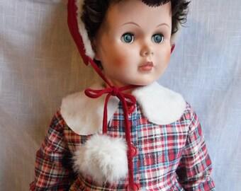 """Vintage Large Lifelike AE Doll 35"""" Tall"""