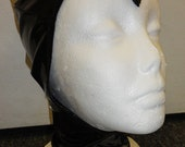 Black PVC hood with a pointed forehead from Artifice Clothing