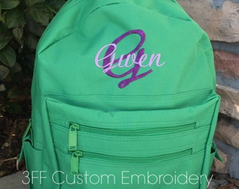 Personalized or Monogrammed School Backpack