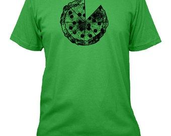 Pizza Shirt - Pizza Shirt Mens Shirt - Foodie Pizza T Shirt - 5 Colors - Green, Blue, Gray, Black Mens Cotton TShirt - Gift Friendly