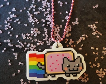 Nyan Cat Necklace or Keychain!