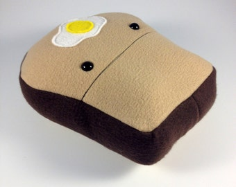 Toast Plush, Breakfast Plush, Bread and Butter, Happy Mustache In Your Face