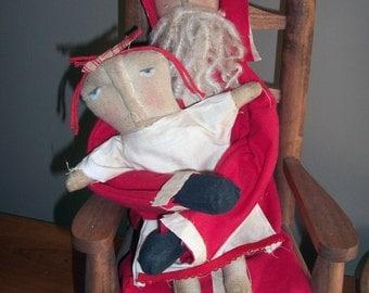 Santa with Little Grubby Girl #81