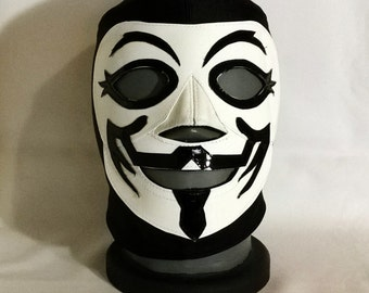Guy Fawkes V for Vendetta Wrestling Style Mask Mardi Gras day of the dead halloween party masks Horror masquerade DC Comic Superhero