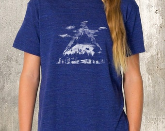 Mountain Clouds Forest - Kid's T-Shirt  American Apparel TriBlend - 2YR Through 10YR Sizes Available