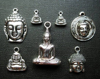 Buddha Charm Collection in Silver Tone - C2486