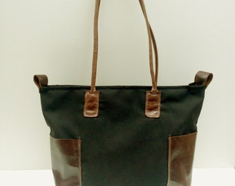 Gifts for Her, Womens Weekender Bag, Leather Weekend Bag, Canvas Leather Bag
