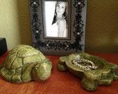 TORTOISE KEEPSAKE Original Turtle Stone Sculpture, Hand Crafted in the USA (m/g)