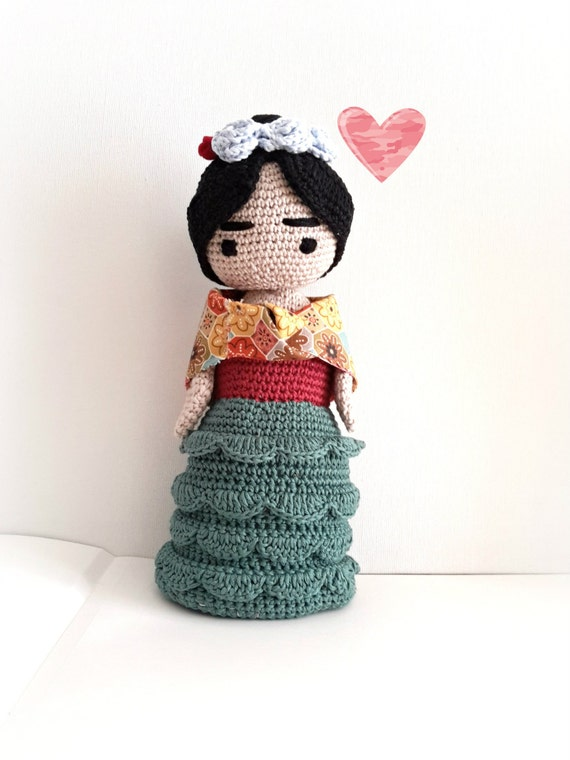 Amigurumi Monster Free Pattern : Frida Kahlo Amigurumi Doll Frida Crochet Doll Frida Art