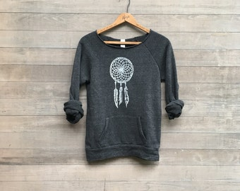 back to my roots Dreamcatcher Sweatshirt, Boho Top, Native American Design, S,M,L,XL