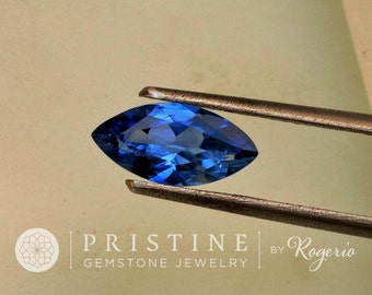 Marquis Ceylon Natural Blue Sapphire Shape September Birthstone 10.7 x 5.3 MM