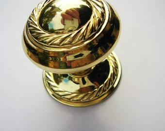 Metal Door Knob - Small Door Handle - Upcycling Supply - Gold Draw Knob - Furniture Fitting - Home Decor Supply - Draw Pull - Cupboard Knob