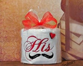 Toilet Paper Valentine Gag Gift, Embroidery Toilet Paper Gift, Toilet Paper His Bathroom Decor, Valentine's Day Unique Gift